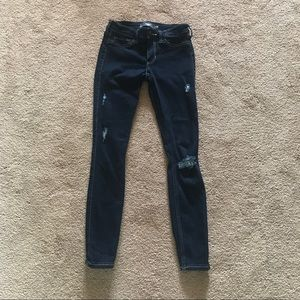 Distressed Hollister Cropped Jean Leggings